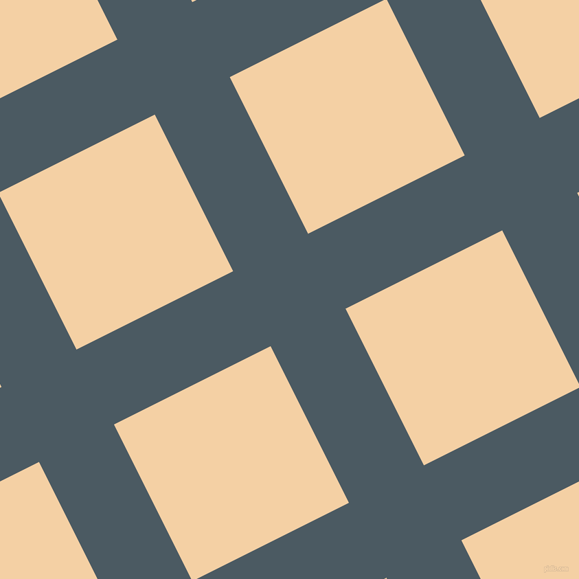 27/117 degree angle diagonal checkered chequered lines, 122 pixel line width, 255 pixel square size, Fiord and Tequila plaid checkered seamless tileable