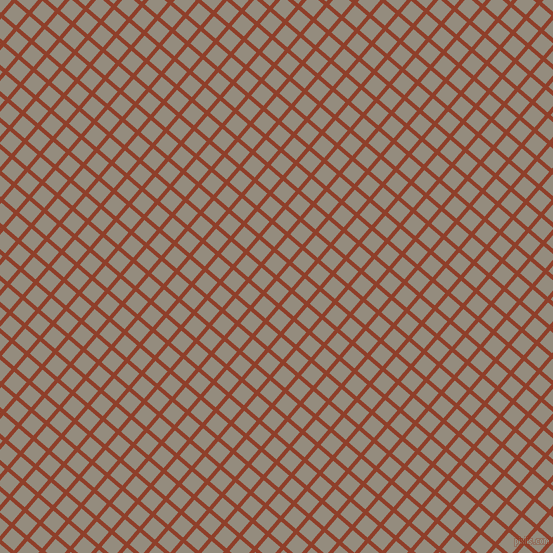 49/139 degree angle diagonal checkered chequered lines, 4 pixel line width, 16 pixel square size, Fire and Heathered Grey plaid checkered seamless tileable