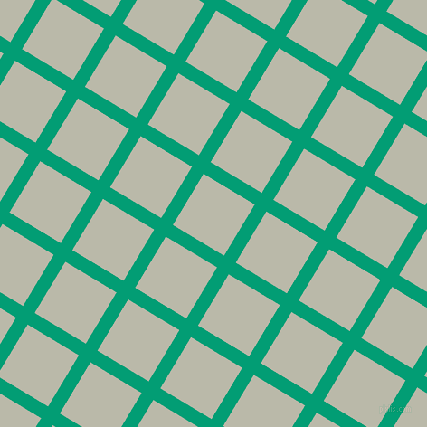 59/149 degree angle diagonal checkered chequered lines, 15 pixel line width, 66 pixel square size, Free Speech Aquamarine and Mist Grey plaid checkered seamless tileable
