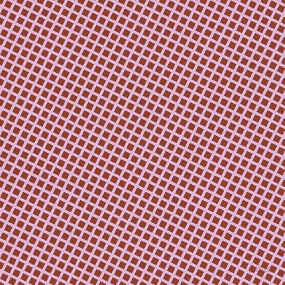63/153 degree angle diagonal checkered chequered lines, 4 pixel lines width, 9 pixel square size, French Lilac and Fire plaid checkered seamless tileable