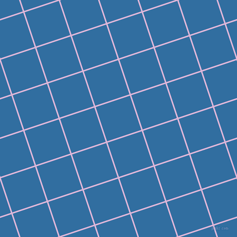 18/108 degree angle diagonal checkered chequered lines, 3 pixel line width, 74 pixel square size, French Lilac and Lochmara plaid checkered seamless tileable