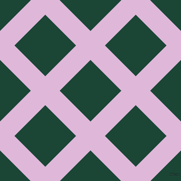 45/135 degree angle diagonal checkered chequered lines, 69 pixel lines width, 147 pixel square size, French Lilac and Sherwood Green plaid checkered seamless tileable
