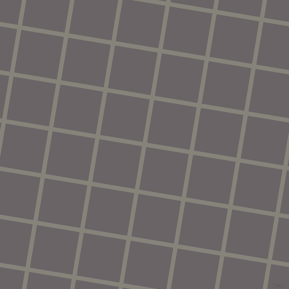 81/171 degree angle diagonal checkered chequered lines, 14 pixel line width, 140 pixel square size, Friar Grey and Scorpion plaid checkered seamless tileable