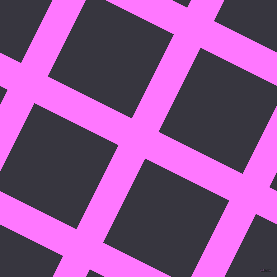 63/153 degree angle diagonal checkered chequered lines, 96 pixel lines width, 302 pixel square size, Fuchsia Pink and Revolver plaid checkered seamless tileable