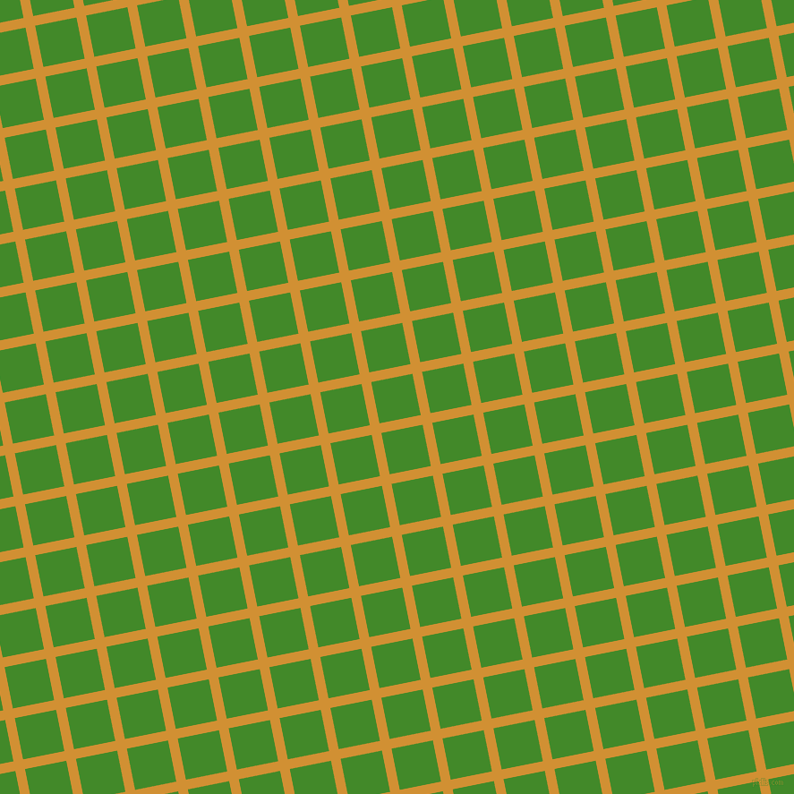 11/101 degree angle diagonal checkered chequered lines, 11 pixel line width, 47 pixel square size, Fuel Yellow and La Palma plaid checkered seamless tileable