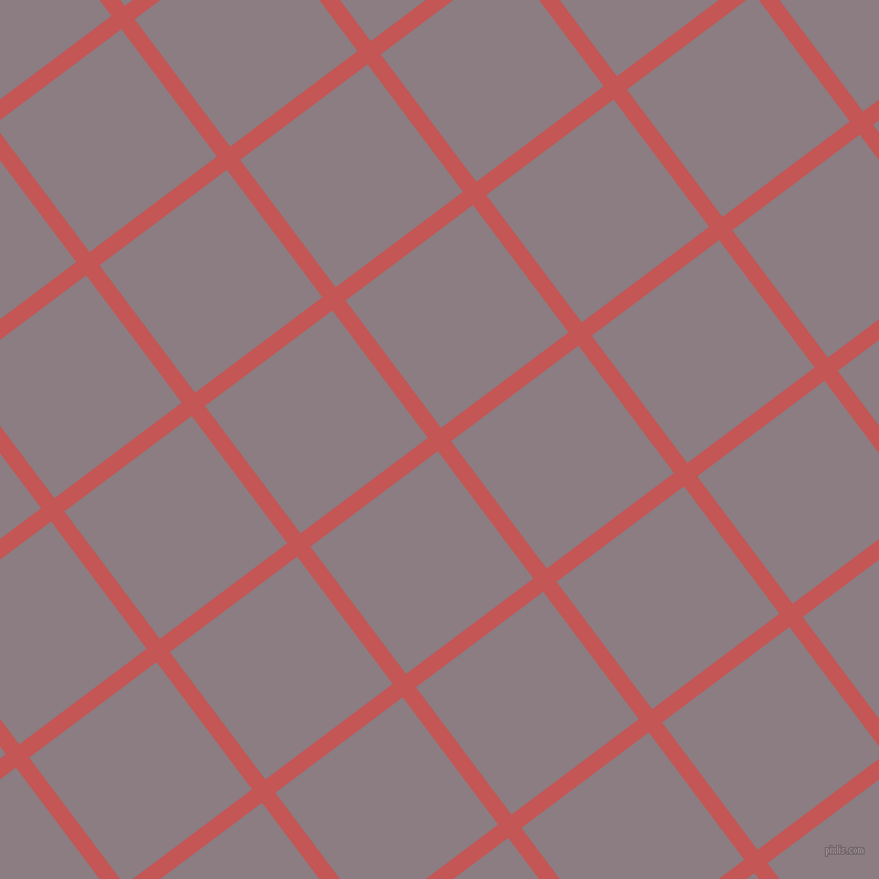 37/127 degree angle diagonal checkered chequered lines, 15 pixel lines width, 144 pixel square size, Fuzzy Wuzzy Brown and Venus plaid checkered seamless tileable