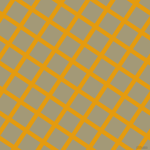 56/146 degree angle diagonal checkered chequered lines, 14 pixel lines width, 53 pixel square size, Gamboge and Tallow plaid checkered seamless tileable