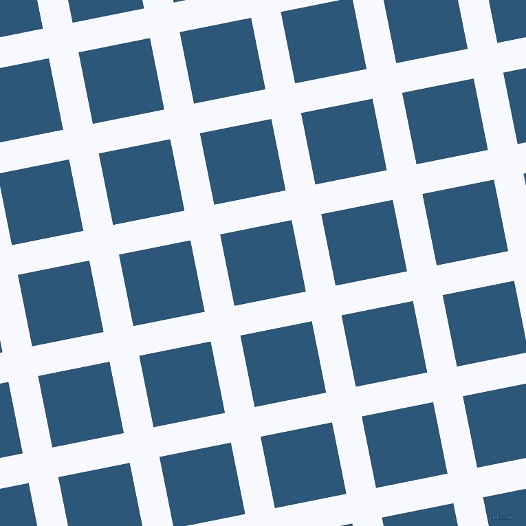 11/101 degree angle diagonal checkered chequered lines, 44 pixel line width, 106 pixel square size, Ghost White and Venice Blue plaid checkered seamless tileable