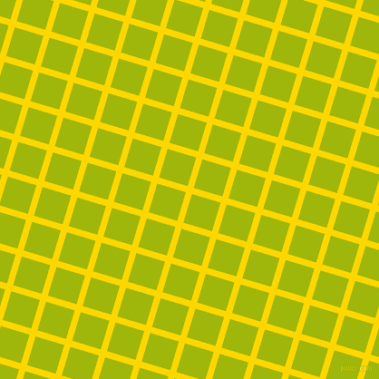73/163 degree angle diagonal checkered chequered lines, 7 pixel lines width, 33 pixel square size, Gold and Citrus plaid checkered seamless tileable