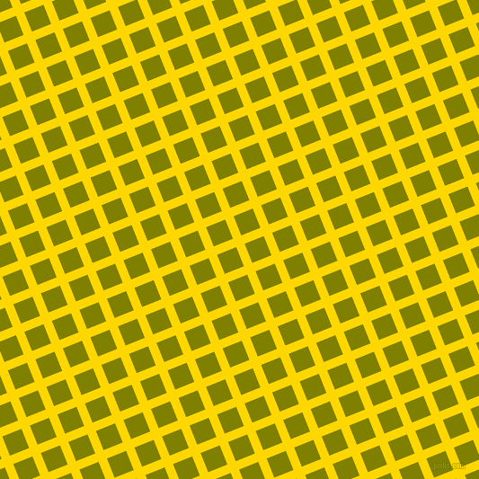 22/112 degree angle diagonal checkered chequered lines, 10 pixel lines width, 23 pixel square size, Gold and Olive plaid checkered seamless tileable