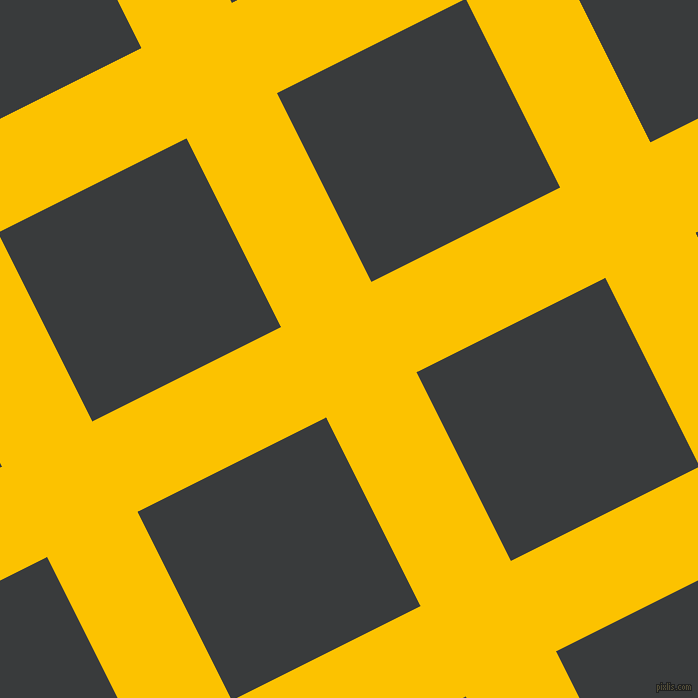 27/117 degree angle diagonal checkered chequered lines, 101 pixel lines width, 211 pixel square size, Golden Poppy and Montana plaid checkered seamless tileable