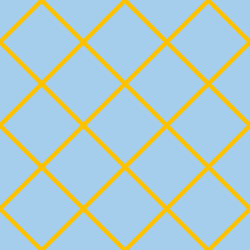 45/135 degree angle diagonal checkered chequered lines, 14 pixel line width, 176 pixel square size, Golden Poppy and Sail plaid checkered seamless tileable