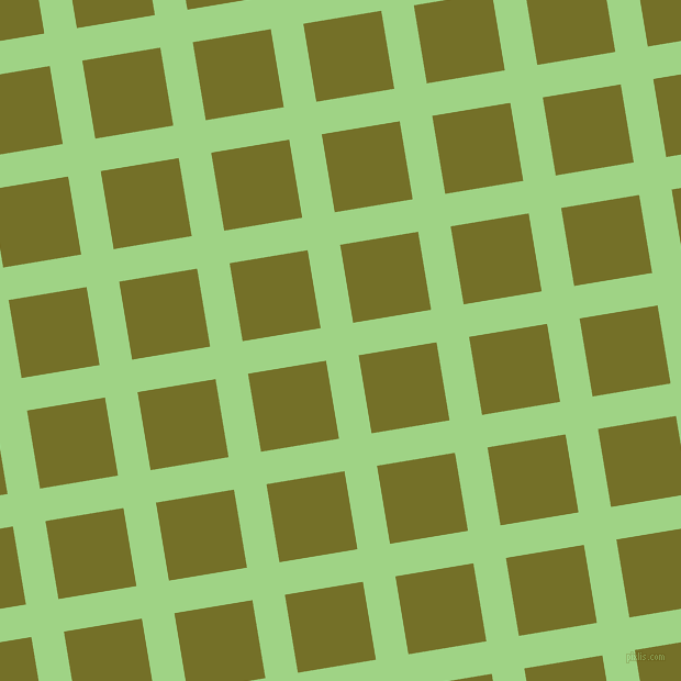 9/99 degree angle diagonal checkered chequered lines, 30 pixel lines width, 72 pixel square size, Gossip and Olivetone plaid checkered seamless tileable