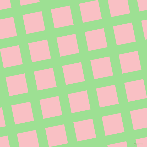 11/101 degree angle diagonal checkered chequered lines, 36 pixel line width, 74 pixel square size, Granny Smith Apple and Azalea plaid checkered seamless tileable
