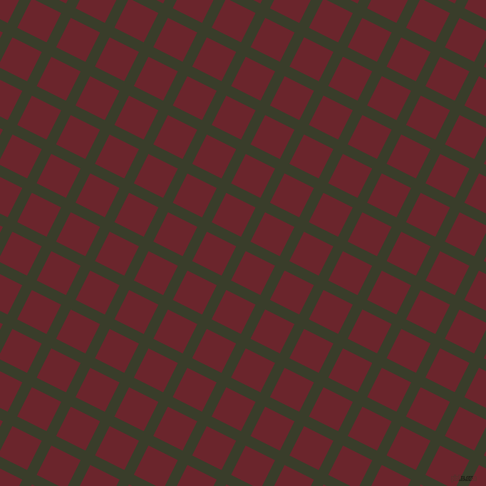 63/153 degree angle diagonal checkered chequered lines, 15 pixel line width, 46 pixel square size, Green Kelp and Monarch plaid checkered seamless tileable