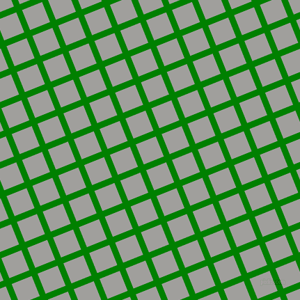 22/112 degree angle diagonal checkered chequered lines, 9 pixel lines width, 31 pixel square size, Green and Mountain Mist plaid checkered seamless tileable