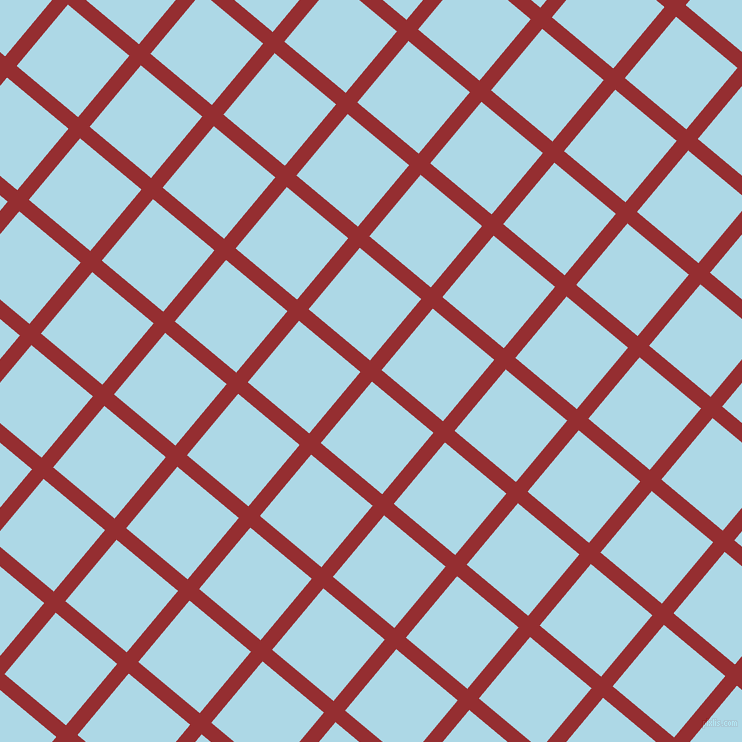 50/140 degree angle diagonal checkered chequered lines, 15 pixel lines width, 80 pixel square size, Guardsman Red and Light Blue plaid checkered seamless tileable