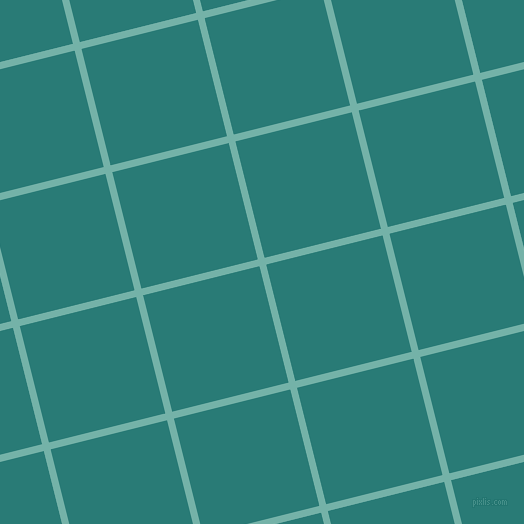 14/104 degree angle diagonal checkered chequered lines, 7 pixel lines width, 120 pixel square size, Gulf Stream and Elm plaid checkered seamless tileable