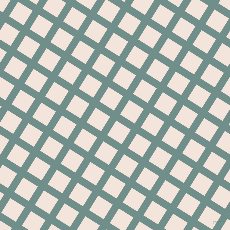 58/148 degree angle diagonal checkered chequered lines, 24 pixel lines width, 57 pixel square size, Gumbo and Fair Pink plaid checkered seamless tileable