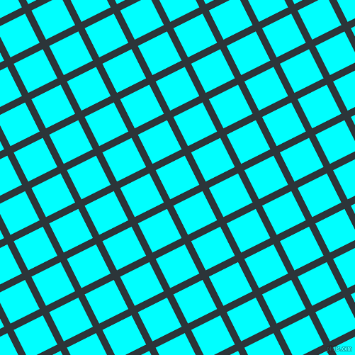 27/117 degree angle diagonal checkered chequered lines, 10 pixel line width, 46 pixel square size, Gunmetal and Aqua plaid checkered seamless tileable