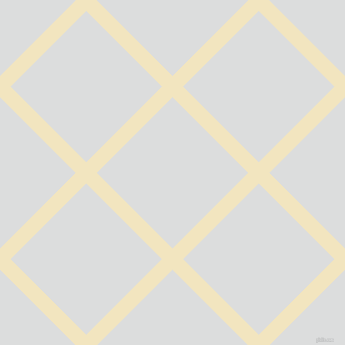 45/135 degree angle diagonal checkered chequered lines, 30 pixel lines width, 215 pixel square size, Half Colonial White and Athens Grey plaid checkered seamless tileable