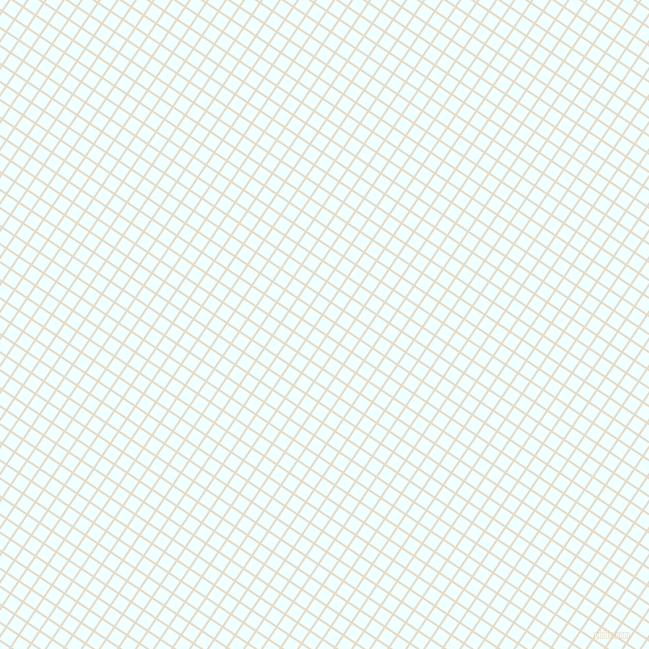 56/146 degree angle diagonal checkered chequered lines, 2 pixel line width, 13 pixel square size, Half Spanish White and Azure plaid checkered seamless tileable