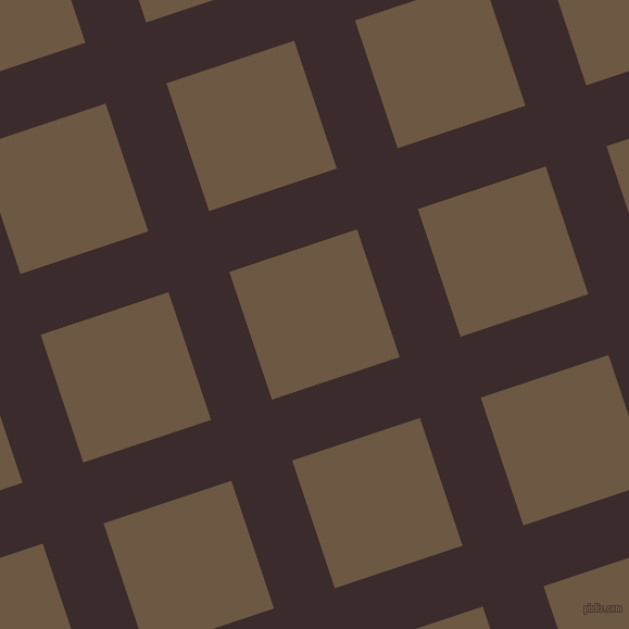 18/108 degree angle diagonal checkered chequered lines, 59 pixel line width, 124 pixel square size, Havana and Tobacco Brown plaid checkered seamless tileable