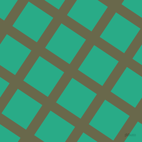 56/146 degree angle diagonal checkered chequered lines, 32 pixel lines width, 96 pixel square size, Hemlock and Jungle Green plaid checkered seamless tileable