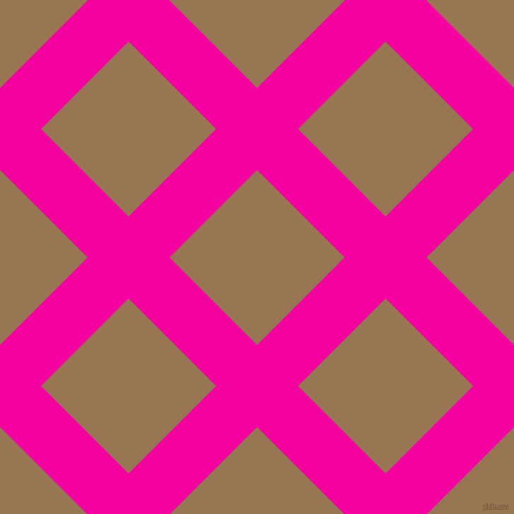 45/135 degree angle diagonal checkered chequered lines, 82 pixel line width, 175 pixel square size, Hollywood Cerise and Pale Brown plaid checkered seamless tileable
