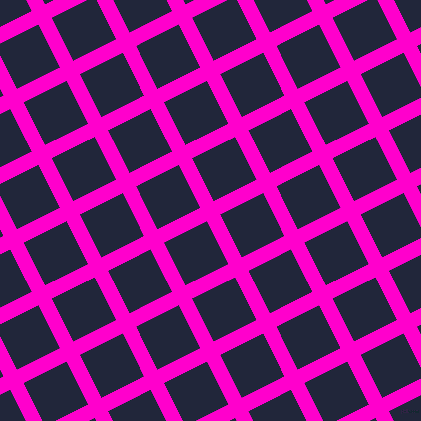 27/117 degree angle diagonal checkered chequered lines, 30 pixel line width, 96 pixel square size, Hot Magenta and Midnight Express plaid checkered seamless tileable
