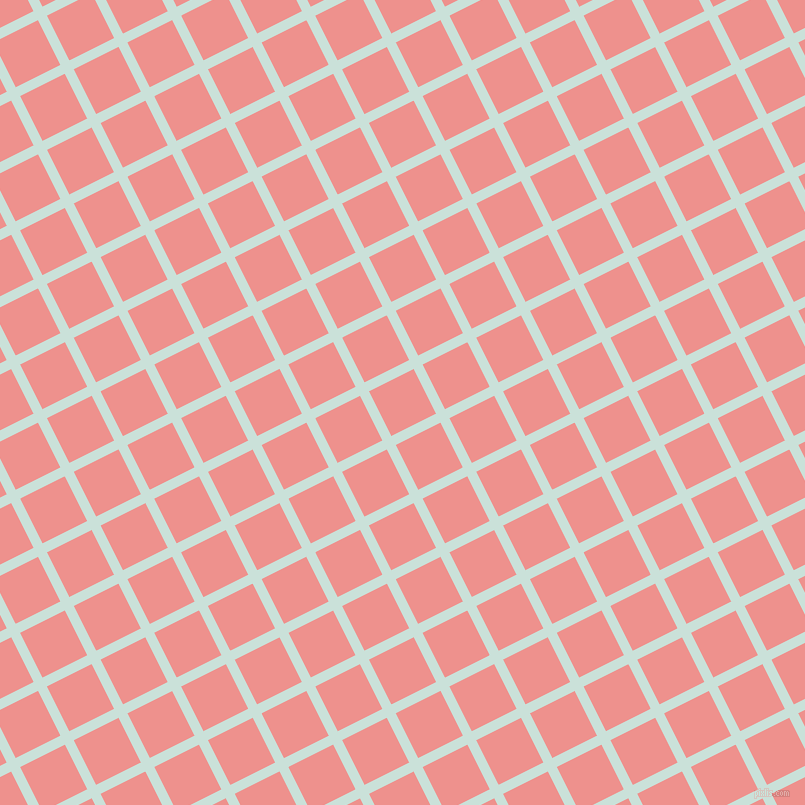 27/117 degree angle diagonal checkered chequered lines, 10 pixel line width, 50 pixel square size, Iceberg and Sweet Pink plaid checkered seamless tileable