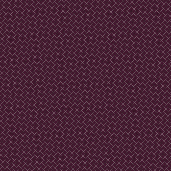 41/131 degree angle diagonal checkered chequered lines, 1 pixel lines width, 12 pixel square size, Ironside Grey and Blackberry plaid checkered seamless tileable