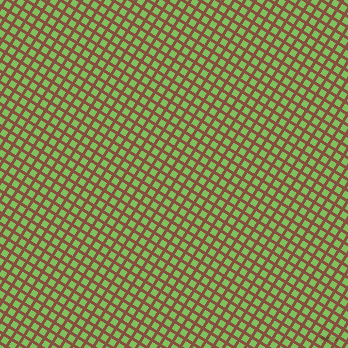 58/148 degree angle diagonal checkered chequered lines, 6 pixel line width, 13 pixel square size, Ironstone and Mantis plaid checkered seamless tileable