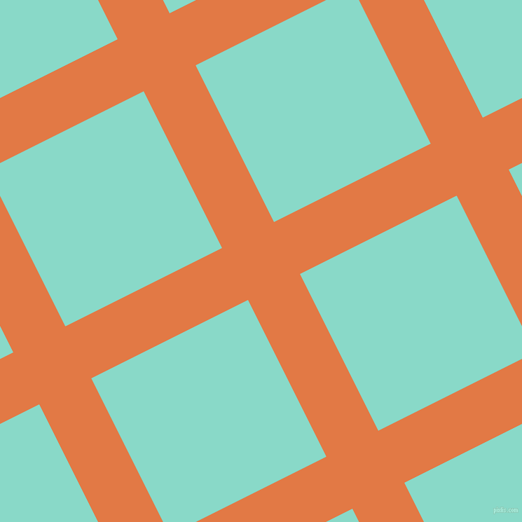 27/117 degree angle diagonal checkered chequered lines, 83 pixel line width, 250 pixel square size, Jaffa and Riptide plaid checkered seamless tileable