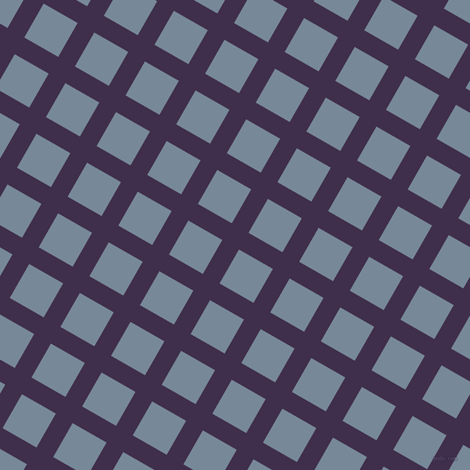 60/150 degree angle diagonal checkered chequered lines, 28 pixel lines width, 57 pixel square sizeJagger and Light Slate Grey plaid checkered seamless tileable