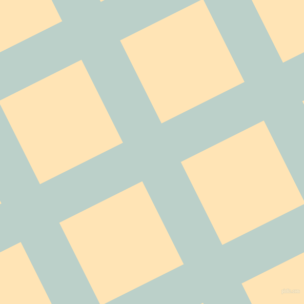 27/117 degree angle diagonal checkered chequered lines, 84 pixel lines width, 181 pixel square size, Jet Stream and Moccasin plaid checkered seamless tileable