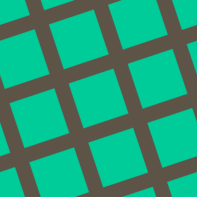 18/108 degree angle diagonal checkered chequered lines, 50 pixel line width, 158 pixel square size, Judge Grey and Caribbean Green plaid checkered seamless tileable