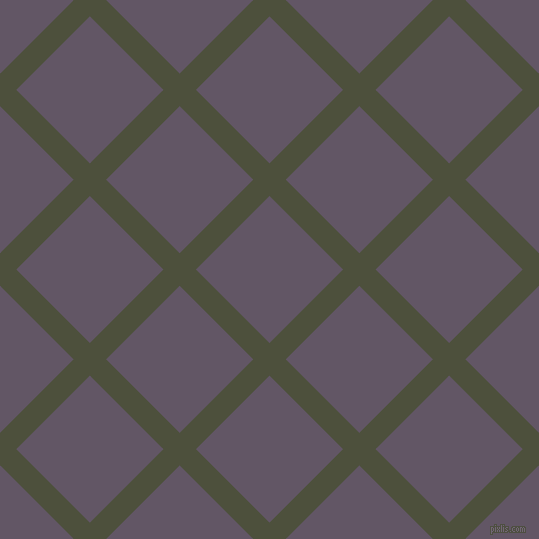 45/135 degree angle diagonal checkered chequered lines, 23 pixel line width, 104 pixel square size, Kelp and Fedora plaid checkered seamless tileable