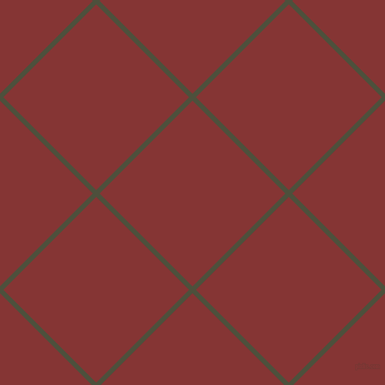 45/135 degree angle diagonal checkered chequered lines, 7 pixel line width, 190 pixel square size, Kelp and Tall Poppy plaid checkered seamless tileable