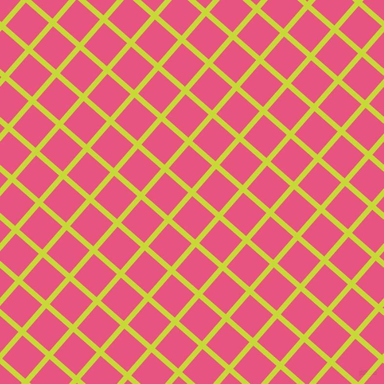 49/139 degree angle diagonal checkered chequered lines, 11 pixel lines width, 63 pixel square size, Las Palmas and Dark Pink plaid checkered seamless tileable