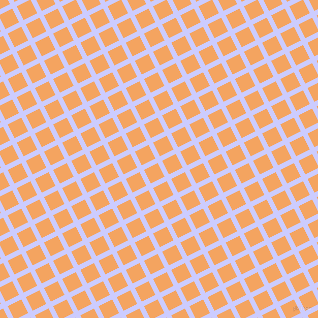 27/117 degree angle diagonal checkered chequered lines, 10 pixel lines width, 30 pixel square size, Lavender Blue and Sandy Brown plaid checkered seamless tileable