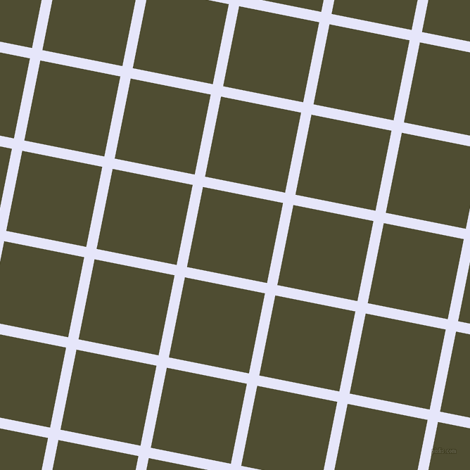 79/169 degree angle diagonal checkered chequered lines, 15 pixel lines width, 116 pixel square size, Lavender and Camouflage plaid checkered seamless tileable
