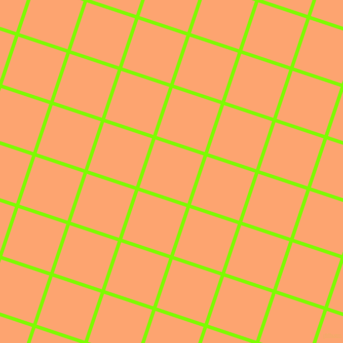 72/162 degree angle diagonal checkered chequered lines, 7 pixel line width, 100 pixel square size, Lawn Green and Hit Pink plaid checkered seamless tileable
