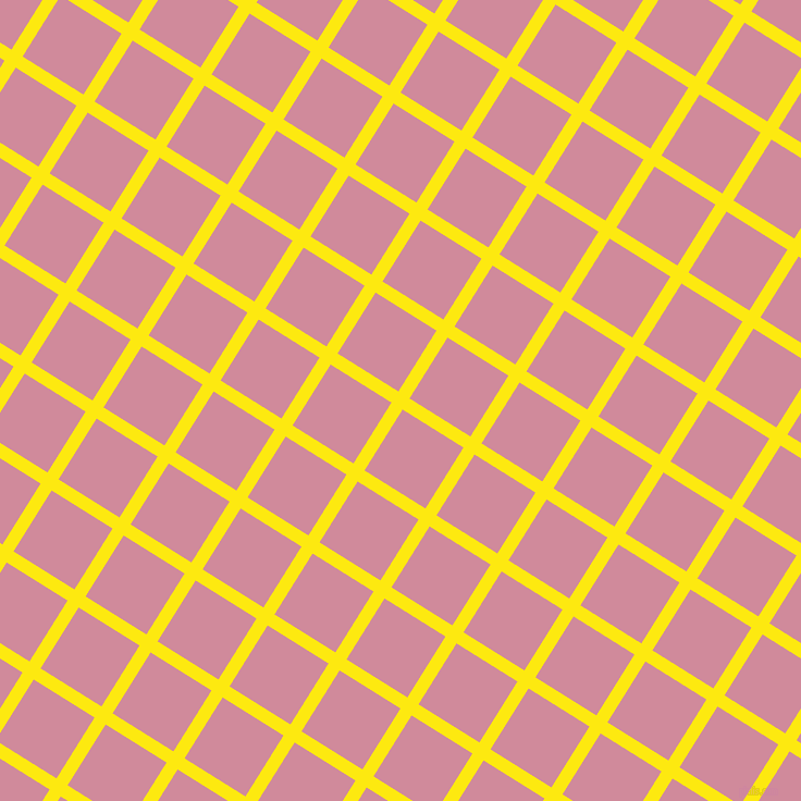 58/148 degree angle diagonal checkered chequered lines, 12 pixel line width, 66 pixel square size, Lemon and Can Can plaid checkered seamless tileable