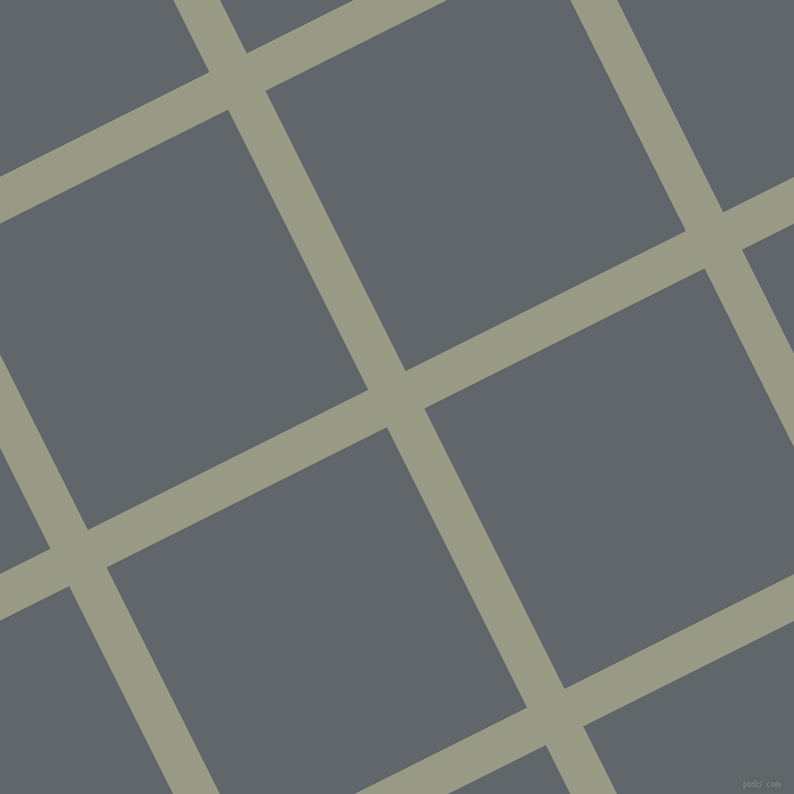27/117 degree angle diagonal checkered chequered lines, 38 pixel lines width, 285 pixel square size, Lemon Grass and Shuttle Grey plaid checkered seamless tileable