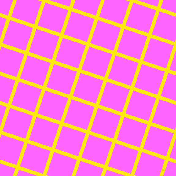 72/162 degree angle diagonal checkered chequered lines, 12 pixel lines width, 79 pixel square size, Lemon and Pink Flamingo plaid checkered seamless tileable