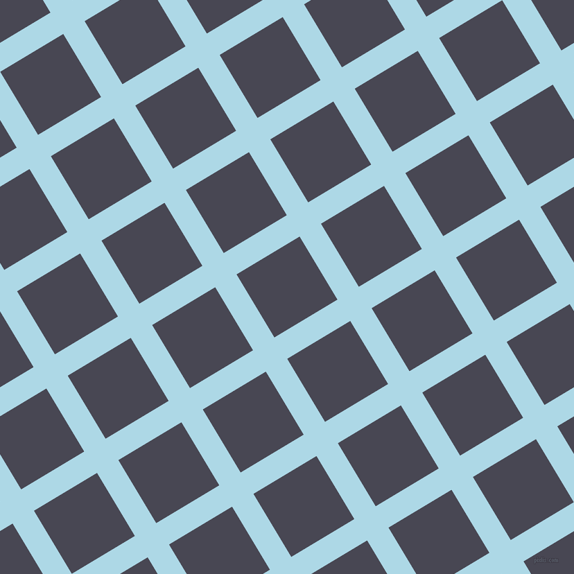 31/121 degree angle diagonal checkered chequered lines, 36 pixel line width, 106 pixel square size, Light Blue and Gun Powder plaid checkered seamless tileable