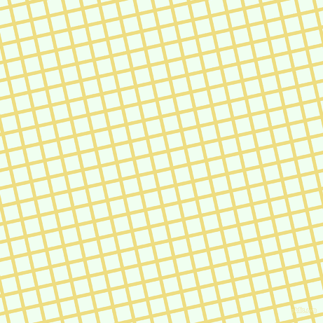 13/103 degree angle diagonal checkered chequered lines, 5 pixel line width, 20 pixel square size, Light Goldenrod and Honeydew plaid checkered seamless tileable