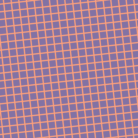 6/96 degree angle diagonal checkered chequered lines, 5 pixel line width, 25 pixel square sizeLight Salmon and Deluge plaid checkered seamless tileable