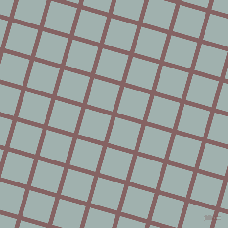 74/164 degree angle diagonal checkered chequered lines, 9 pixel line width, 55 pixel square size, Light Wood and Conch plaid checkered seamless tileable